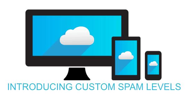 Custom Spam levels