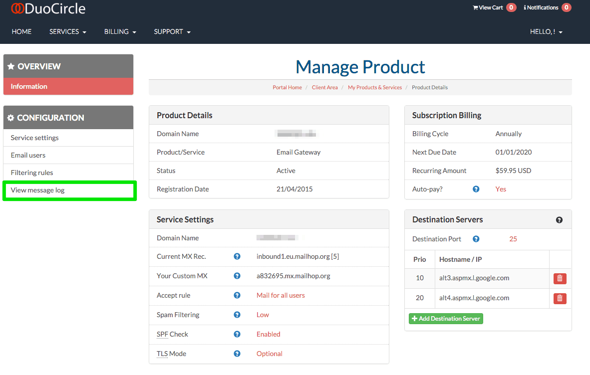 New Feature Announcement – Viewing your Log Files